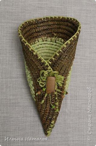 Подвесное кашпо для сухоцветов из талаша и сосновой иглы фото 2