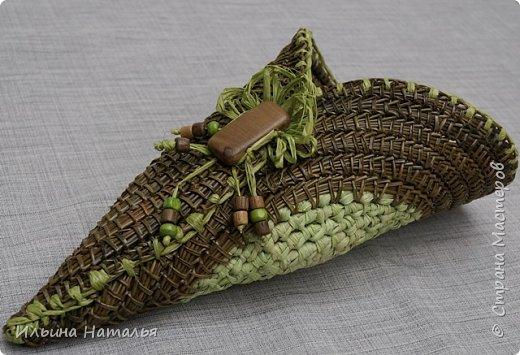 Подвесное кашпо для сухоцветов из талаша и сосновой иглы фото 3