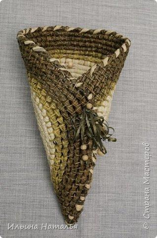 Подвесное кашпо для сухоцветов из талаша и сосновой иглы фото 4