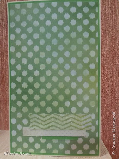 Родилась у меня сегодня открытка. Очень хотелось именно зеленую, но как сложно, оказывается, подобрать подходящие оттенки зеленого.))) фото 3