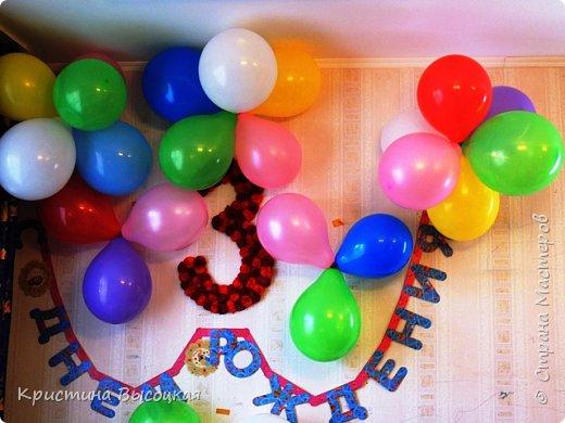 С добрым временем суток, дорогие мастера и мастерицы))) На днях нашей младшей принцессе исполнилось три годика. Увидела в интернете идею вот такой цифры и решила сделать, а как получилось - судить Вам!   фото 2