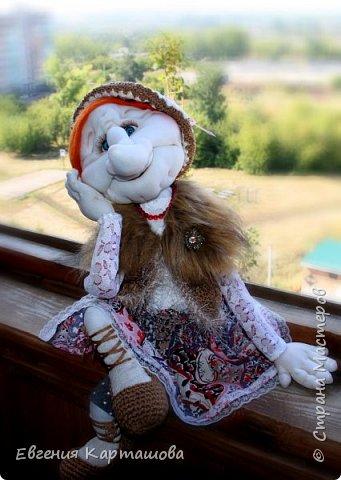 Приветствую вас, милые мастерицы! Очень давно вынашивала мечту-сделать бабу Ягу и еще 1 куколку (пока не скажу какую)... И вот мечтам свойственно сбываться!!!!!!! Образ настолько четко встал перед глазами, рукам оставалось только повторить))) Моя Ягуля перед вами.  фото 6