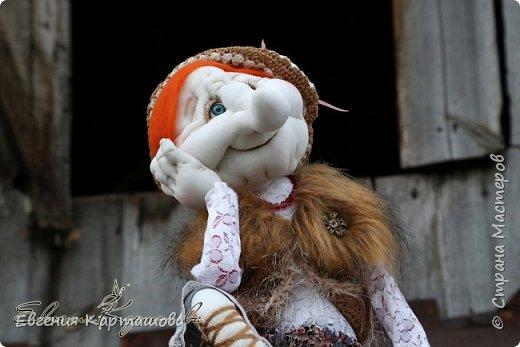 Приветствую вас, милые мастерицы! Очень давно вынашивала мечту-сделать бабу Ягу и еще 1 куколку (пока не скажу какую)... И вот мечтам свойственно сбываться!!!!!!! Образ настолько четко встал перед глазами, рукам оставалось только повторить))) Моя Ягуля перед вами.  фото 1