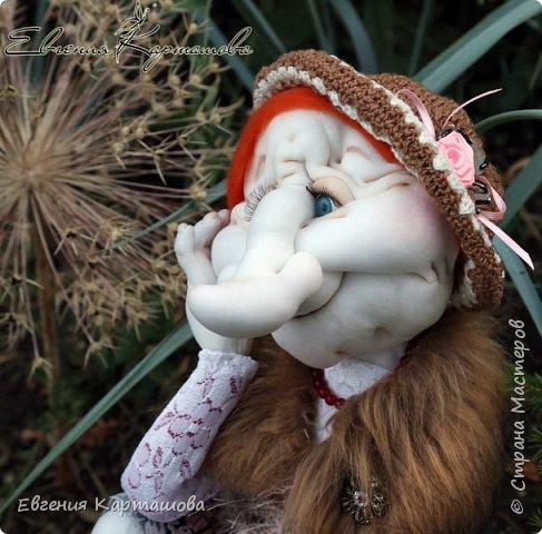 Приветствую вас, милые мастерицы! Очень давно вынашивала мечту-сделать бабу Ягу и еще 1 куколку (пока не скажу какую)... И вот мечтам свойственно сбываться!!!!!!! Образ настолько четко встал перед глазами, рукам оставалось только повторить))) Моя Ягуля перед вами.  фото 3