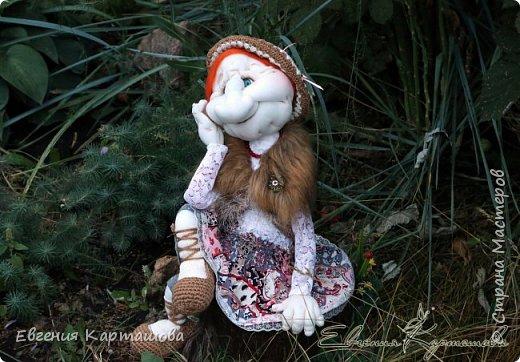 Приветствую вас, милые мастерицы! Очень давно вынашивала мечту-сделать бабу Ягу и еще 1 куколку (пока не скажу какую)... И вот мечтам свойственно сбываться!!!!!!! Образ настолько четко встал перед глазами, рукам оставалось только повторить))) Моя Ягуля перед вами.  фото 5