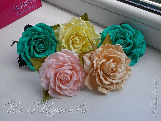 мои цветы из фоамирана фото 2