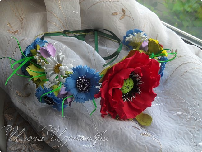 мои цветы из фоамирана фото 5