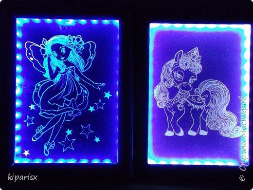 Картины с подсветкой в подарок двум девочкам, уехали в Ростов-на-Дону. фото 3