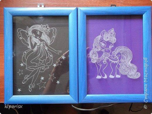 Картины с подсветкой в подарок двум девочкам, уехали в Ростов-на-Дону. фото 2