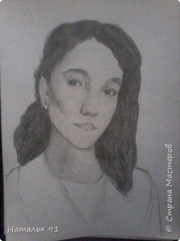 Лиля первый опыт в рисовании портретов, после долгого перерыва фото 1