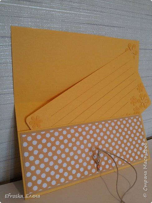 Сотворила конверт!  Не стала делать надпись, чтобы не ограничивать выбор повода его подарить!  Цветок и листики - вырубка  фото 3