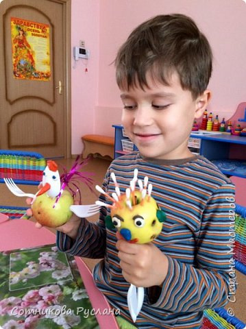 Детские работы из природного и другого различного материала фото 4