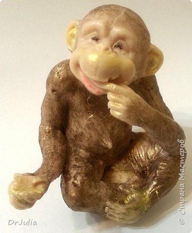 Мои мыльные букеты с лилиями нравятся! http://stranamasterov.ru/node/964611  Попросили меня сделать подобный и желательно с обезьянкой, так как именинник рождён в год Обезьяны. фото 6