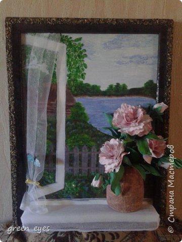 """панно""""Цветы на окне"""" фото 1"""