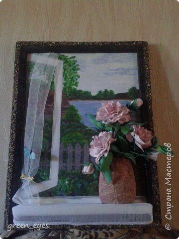 """панно""""Цветы на окне"""" фото 3"""