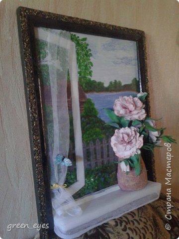 """панно""""Цветы на окне"""" фото 2"""