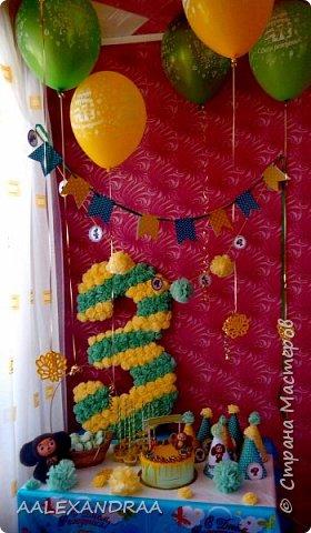 Всем привет! Недавно было День Рождение моей доченьки,я решила приготовить сюрприз,заказали вкусняшки,сделала украшения и цифру из салфеток. фото 1