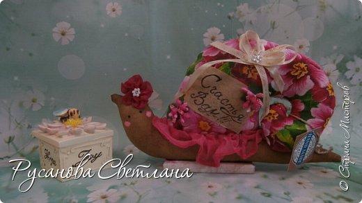 Милые улитки, надпись по желанию..........принесут в дом счастье, радость, удачу исполнения всех желаний. фото 1