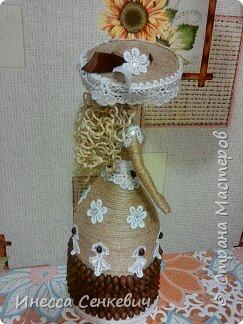 Мои две последние работы - шпагатные куклы. Вдохновитель - Елена Игнатьева http://stranamasterov.ru/node/743359. Только я своих дамочек сделала просто стационарными, без шкатулок. фото 3