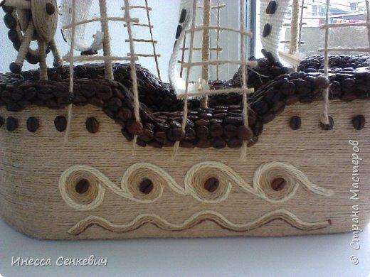 Сделались у меня несколько парусников. Этот последний, с новой формой лодки. До этого лодка была больше похожа на утюжок)  Вдохновитель -кофейных дел мастер anna80 http://stranamasterov.ru/node/429879 Спасибо, Анечка! фото 6