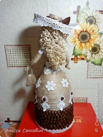 Мои две последние работы - шпагатные куклы. Вдохновитель - Елена Игнатьева http://stranamasterov.ru/node/743359. Только я своих дамочек сделала просто стационарными, без шкатулок. фото 6