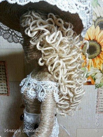 Мои две последние работы - шпагатные куклы. Вдохновитель - Елена Игнатьева http://stranamasterov.ru/node/743359. Только я своих дамочек сделала просто стационарными, без шкатулок. фото 7