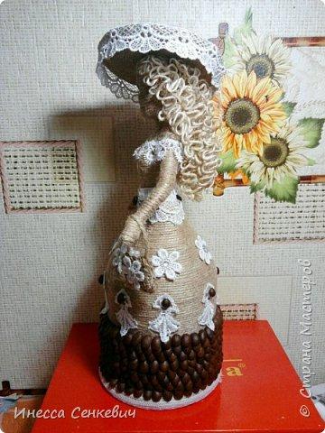 Мои две последние работы - шпагатные куклы. Вдохновитель - Елена Игнатьева http://stranamasterov.ru/node/743359. Только я своих дамочек сделала просто стационарными, без шкатулок. фото 5