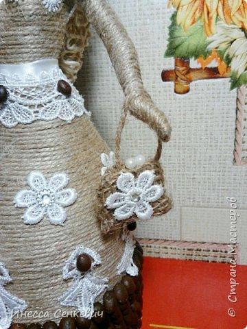 Мои две последние работы - шпагатные куклы. Вдохновитель - Елена Игнатьева http://stranamasterov.ru/node/743359. Только я своих дамочек сделала просто стационарными, без шкатулок. фото 9