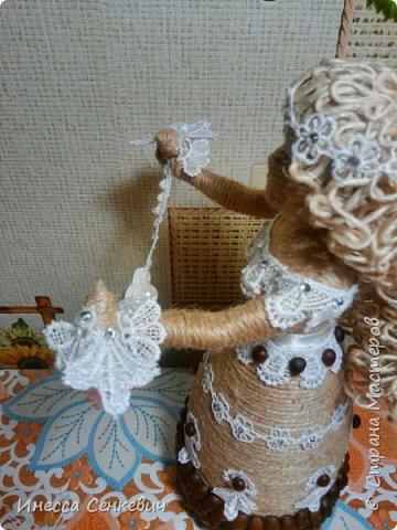 Мои две последние работы - шпагатные куклы. Вдохновитель - Елена Игнатьева http://stranamasterov.ru/node/743359. Только я своих дамочек сделала просто стационарными, без шкатулок. фото 13