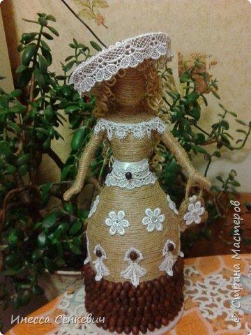 Мои две последние работы - шпагатные куклы. Вдохновитель - Елена Игнатьева http://stranamasterov.ru/node/743359. Только я своих дамочек сделала просто стационарными, без шкатулок. фото 2