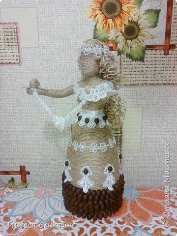 Мои две последние работы - шпагатные куклы. Вдохновитель - Елена Игнатьева http://stranamasterov.ru/node/743359. Только я своих дамочек сделала просто стационарными, без шкатулок. фото 12