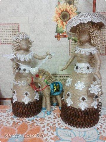 Мои две последние работы - шпагатные куклы. Вдохновитель - Елена Игнатьева http://stranamasterov.ru/node/743359. Только я своих дамочек сделала просто стационарными, без шкатулок. фото 19