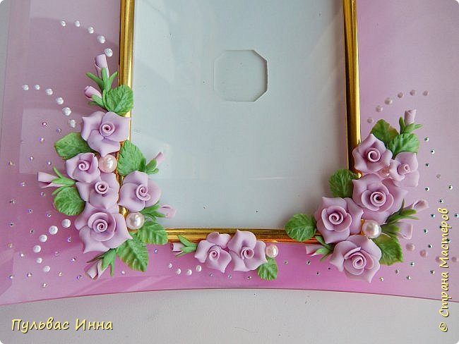 Розовая рамочка для фото фото 3