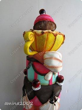 Добрый день! Торт из фоамирана, высота 67 см. фото 3