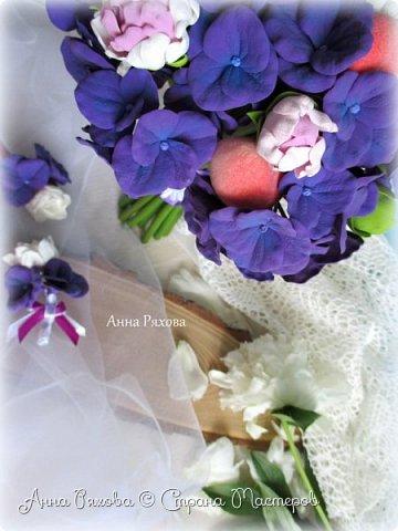 """Букет невесты """"Фиона"""" из полимерной глины фото 3"""