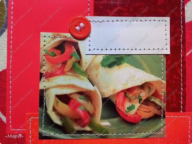 Привет, Страна Мастеров! Этот блокнот кулинарная книга. Формат А5, 90 листов распечатанные на принтере, обложка тканная: хлопок, прошитая на швейной машинке. Блокнот сделала для тёти в подарок. фото 2