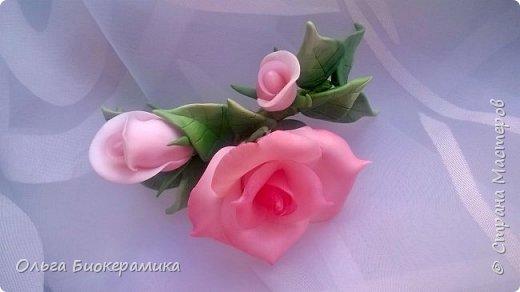 Ободок с розами из запекаемой полимерной глины. фото 8