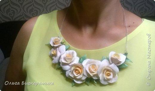 Ободок с розами из запекаемой полимерной глины. фото 6