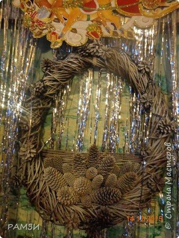 Новогодние и Рождественские венки своими руками, из лесных и других материалов, дар от леса. фото 2