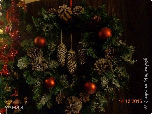 Новогодние и Рождественские венки своими руками, из лесных и других материалов, дар от леса. фото 3