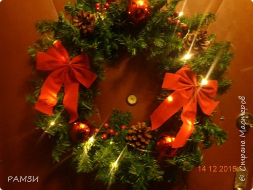 Новогодние и Рождественские венки своими руками, из лесных и других материалов, дар от леса. фото 4