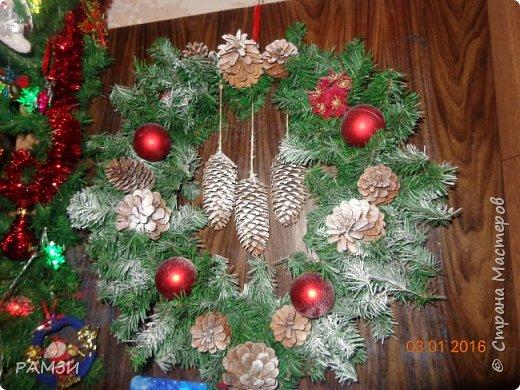 Новогодние и Рождественские венки своими руками, из лесных и других материалов, дар от леса. фото 7