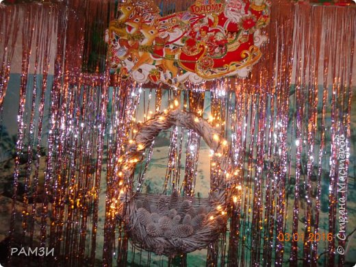 Новогодние и Рождественские венки своими руками, из лесных и других материалов, дар от леса. фото 6