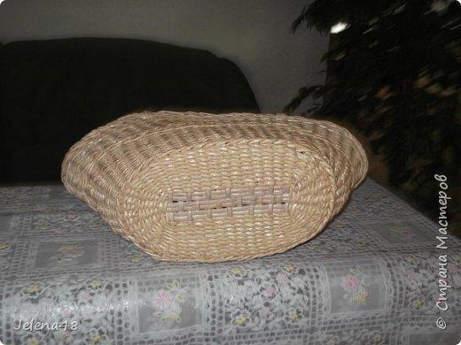 Добрый вечер ! Сплела сумочку для невестки . Трубочки крутила из белой бумаги . Красила трубочки : грунтовка + вода + крутая заварка чая .   фото 6