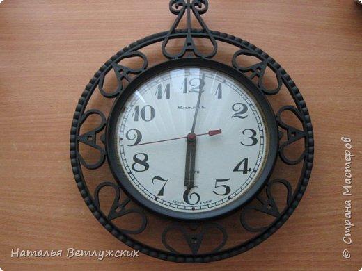 Декор часов из бросового материала. фото 2