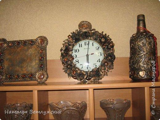 Декор часов из бросового материала. фото 3