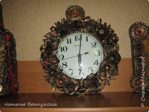 Декор часов из бросового материала. фото 1