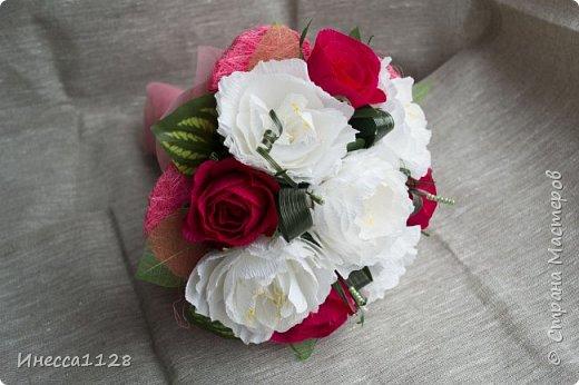 """Букет """"Красное и белое"""" фото 2"""
