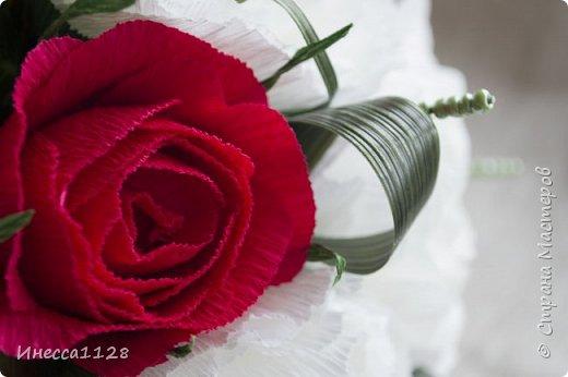 """Букет """"Красное и белое"""" фото 4"""