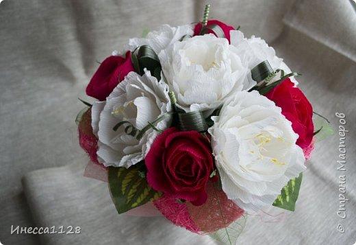 """Букет """"Красное и белое"""" фото 5"""